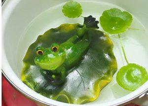 夏季休業,ウォーターマッシュルーム,カエルの置物,かえる,夏の涼み方,グレイスオブガーデン