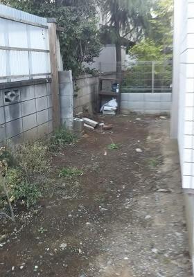 庭の施工前