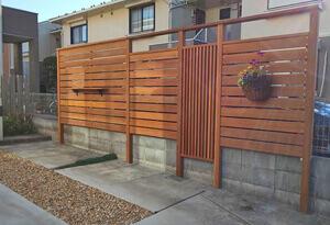 お庭の空間をつくるフェンス