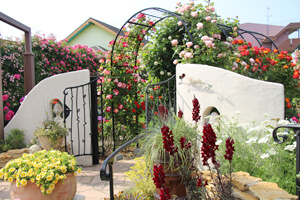 綺麗なバラのローズガーデンに映える外構工事